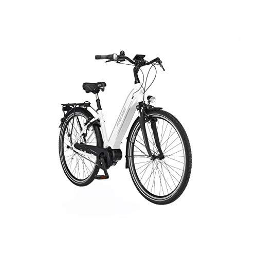 FISCHER E-Bike City CITA 3.1i, Elektrofahrrad, weiß matt, 28 Zoll, RH 44 cm, Mittelmotor 50 Nm, 48 V/418 Wh Akku im Rahmen
